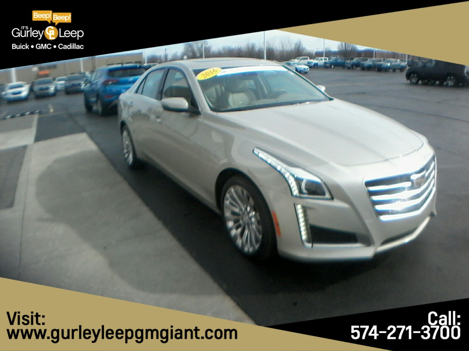 Certified Pre Owned 2016 Cadillac Cts Sedan Luxury Collection Awd